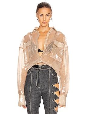 Sequin Oversized Shirt