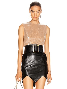 Sequin Layer Crop Top