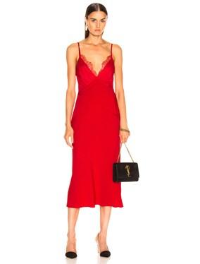 Stencil Lace Bias Dress