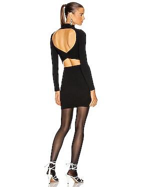 Stripe Rib Twist Mini Dress