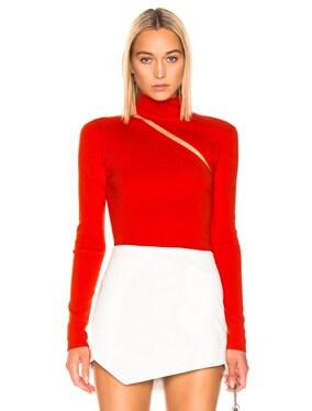 Lingerie Hook Turtleneck Sweater