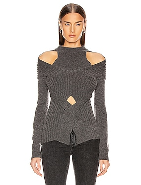 Cashmere Cable Tie Sweater