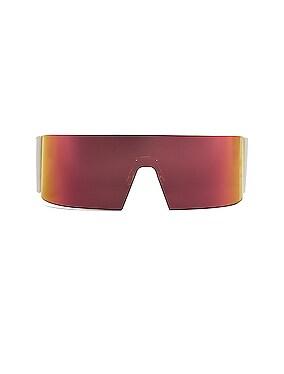 Kaleidoscopic Shield Sunglasses