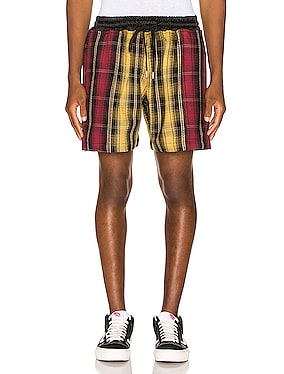 Panelled Plaid Short