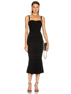 Ruched Flounce Dress