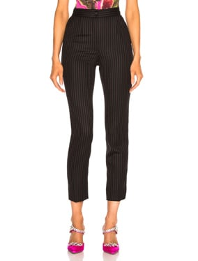 Pinstripe High Waisted Trousers