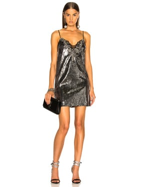 Sequin Embroidered Slip Dress