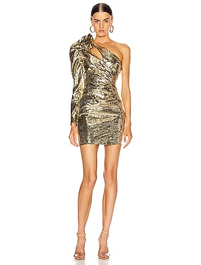 Sequin One Shoulder Mini Dress