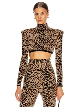 Long Sleeve Leopard Top