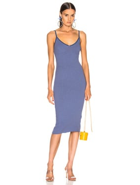 for FWRD Rib Strappy Bra Midi Dress