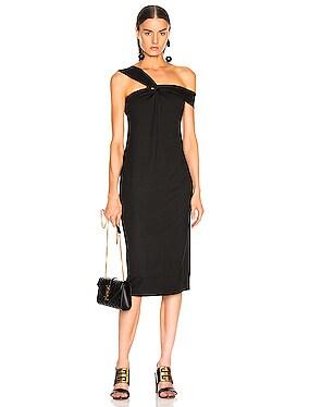 Knot Front Midi Dress