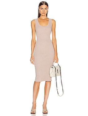 Rib Scoop Tank Midi Dress
