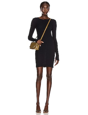 Cashmere Thermal Cuffed Mini Dress