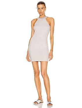Luxe Rib Halter Mini Dress