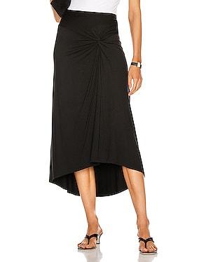 Matte Jersey Side Knot Skirt