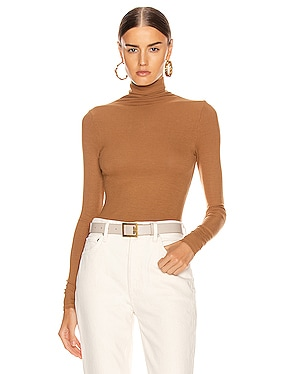 Rib Long Sleeve Turtleneck Bodysuit