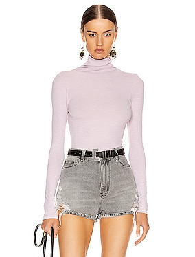 Rib Long Sleeve Turtleneck Bodysuit