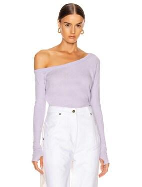 Cashmere Off Shoulder Long Sleeve