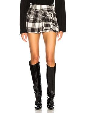 Mini Check Shirt Skirt