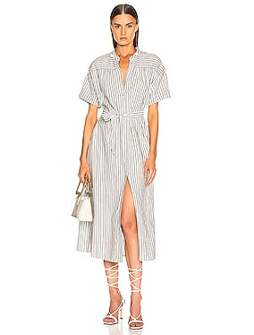Button Up Wrap Dress