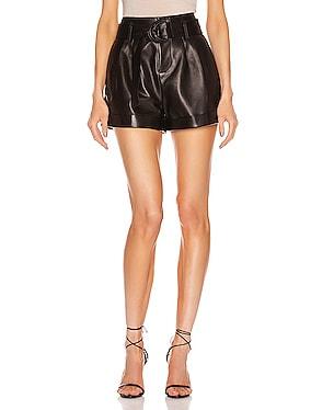 Paperbag Leather Short