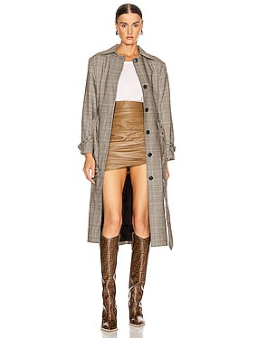 Patch Pocket Trench Coat