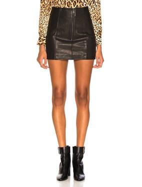 Double Zip Mini Skirt