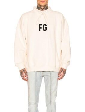 Mock Neck 'FG' Pullover