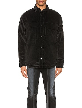 Corduroy & Sherpa Lined Shirt Jacket