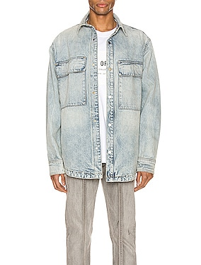 Denim Vented Shirt Jacket
