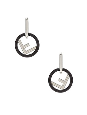 Small Logo Drop Earrings