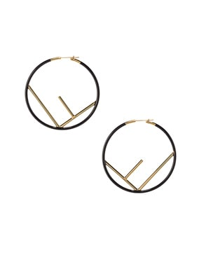 Large Logo Hoop Earrings