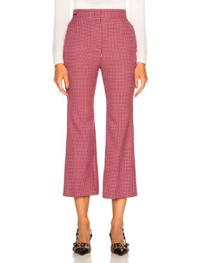 Micro Madras Wool Pants