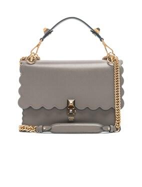 Scallop Chain Crossbody Bag
