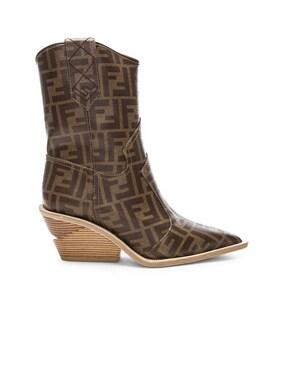 Cutwalk Logo Print Western Boots