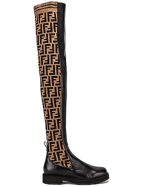 Logo Over the Knee Boots