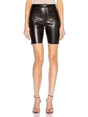 Gigi Vegan Leather Biker Short