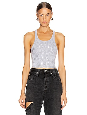 Sade Crystals Cropped Tank Top