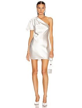 One Shoulder Bias Mini Dress