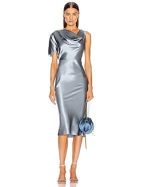 Asymmetrical Cowl Dress