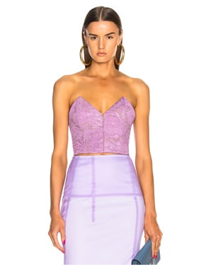 Strapless Lace Top