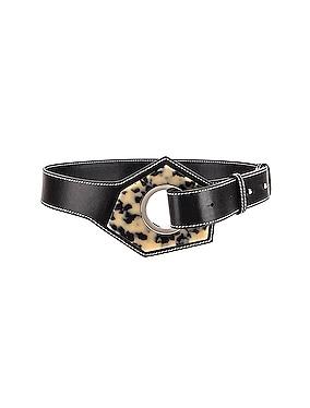 Leather Acetate Belt