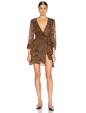 Printed Georgette Mini Dress
