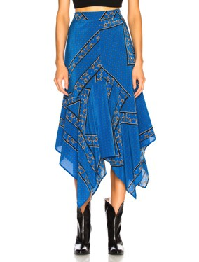Sandwashed Silk Skirt