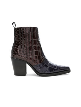 Croc Embossed Callie Boots