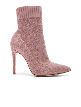 Boucle Knit Fiona Ankle Booties