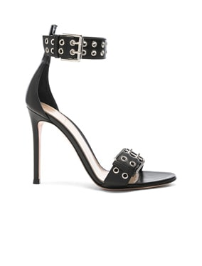Leather Buckle Ankle Strap Sandals