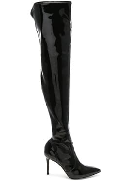 Vinyl Gillian Thigh High Boots