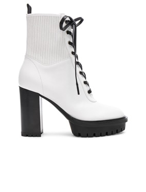 Leather & Eco Stretch Martis Platform Ankle Boots