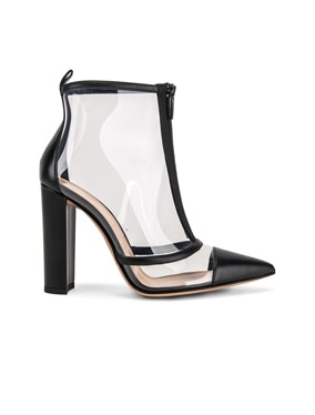 Vitello Plexi Ankle Booties